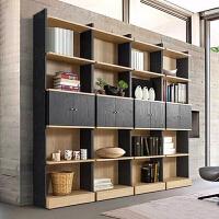 百意空间 韩式书柜书架自由组合带门日式清新简约现代柜子置物架储物柜定做