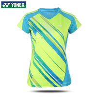 YONEX尤尼克斯运动T恤 吸汗速干运动服短袖 羽毛球服跑步日常休闲 女短袖 210327BCR亮黄 XL