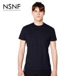 NSNF夜光LOG运动打底黑色短袖T恤 2017年春夏新款