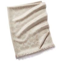 当当自营 蔻驰(COACH)新款女士裸色双C纹羊毛蚕丝围巾 F86011