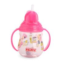 nuby努比宝宝喝水杯子带吸管 鸭嘴 双用学饮杯 婴儿水杯手柄防漏