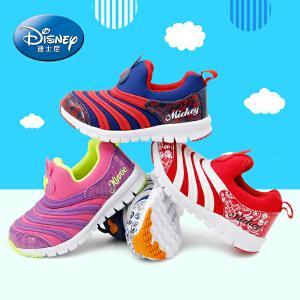 迪士尼毛毛虫童鞋男女运动鞋鞋2017年春夏款3-18岁舒适潮流休闲儿童户外跑步鞋