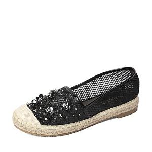 BASTO/百思图春季专柜同款网布时尚休闲女单鞋TS621AQ6