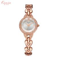 艾奇(EYKI)金米欧系列 石英手表 心形手链 水钻环绕 时尚简约女士手表 6039