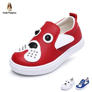 暇步士童鞋2017年夏季新款小狗鞋男女童休闲鞋小童学生鞋经典板鞋 DP9100