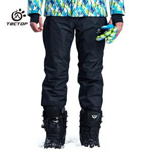 探拓 2016新款女款保暖锁温冲锋裤 男防水透气滑雪裤 PW6909