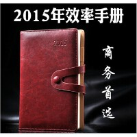 12015年日程记事本子商务创意文具笔记本手帐日历日记计划本A5定制