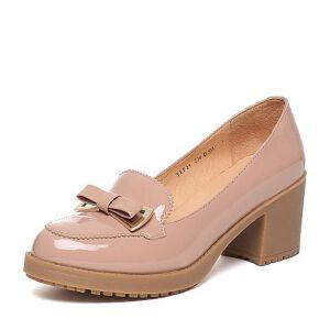 BASTO/百思图春季专柜同款牛皮浅口女单鞋TIF34AQ6