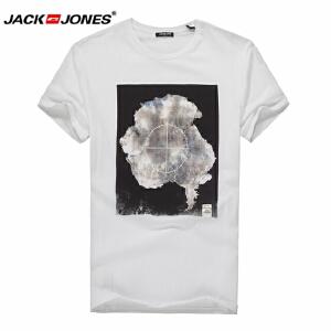 杰克琼斯/JackJones时尚百搭新款T恤 烟-8-3-4-215301016023