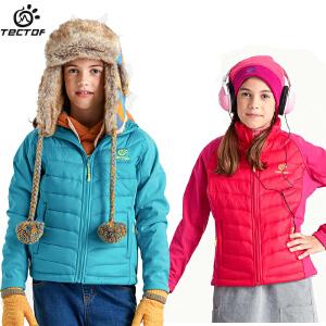 探拓秋冬季户外儿童保暖棉衣服男女童连帽防风棉沃外套防风