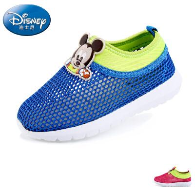 【99元两双】迪士尼宝宝鞋2016春季新款婴儿早教女童运动鞋米奇老鼠男女宝宝鞋学步鞋1-3岁