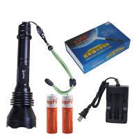 SupFire神火 X6强光手电筒LED充电户外骑行前灯夜钓 航空铝材质