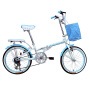 耐嘛20寸学生车6速折叠男女儿童淑女便携自行车