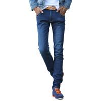 1号牛仔  男士秋冬时尚修身加绒牛仔裤男长裤