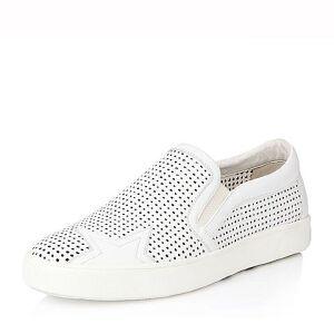 Belle/百丽春季专柜同款时尚休闲牛皮男皮鞋384B1AM6小白鞋运动鞋女小白鞋女