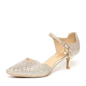 BASTO/百思图春季专柜同款布优雅细高跟女凉鞋TSF06AK6