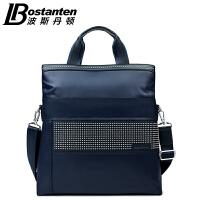 (可礼品卡支付)波斯丹顿男包尼龙布休闲手提包男士大容量单肩包商务休闲两用包潮B152772