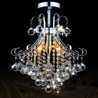 祺家 现代简约艺术LED吸顶灯吊灯两用水晶灯客厅灯餐厅灯饰灯具SD11
