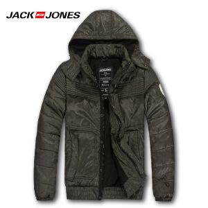 杰克琼斯冬季男士可拆卸帽保暖短款百搭棉服N3-211422019042