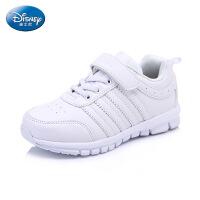 迪士尼2016春秋新款正品中大童鞋男女童运动鞋时尚小白鞋儿童学生鞋板鞋 DS2074