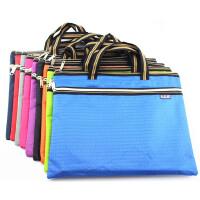 贝多美 A4双拉链手提文件袋定制印刷拉链袋公文包 资料袋 BDM-088