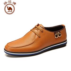 骆驼牌春季新款 男鞋 日常休闲皮鞋 系带轻便耐磨流行男鞋子