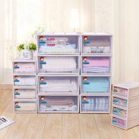 抽屉式收纳柜透明塑料收纳箱衣柜储物箱衣物收纳盒