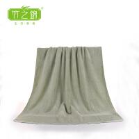 [当当自营] 竹之锦  竹纤维高端加厚简约成人大浴巾 裹胸洗澡大浴巾 Y-012 灰绿