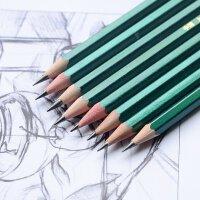 正品上海中华101绘图铅笔HB/12B美术学生书写2H素描绘图考试铅笔儿童无毒2B铅笔