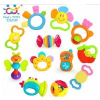 汇乐婴儿玩具0-1岁新生牙胶儿童早教益智摇铃玩具牙胶12只礼盒装