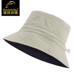 【99元三件】渔民部落户外情侣款可调节两面速干夫帽男女士防晒太阳帽 125116