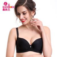 桑扶兰[夏装抢鲜]薄款光面无痕文胸小胸简约性感胸罩AMB03