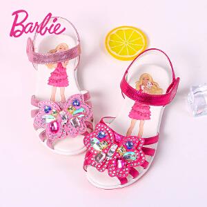 芭比凉鞋 女童凉鞋2017夏季新款儿童凉鞋25-31码