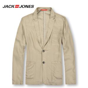 杰克琼斯秋冬季男士简约百搭修身休闲水洗免烫西服14-2-1-213208006121