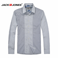 杰克琼斯 秋季 男士长袖衬衫 竖条衬衣19-5-2-213105035020