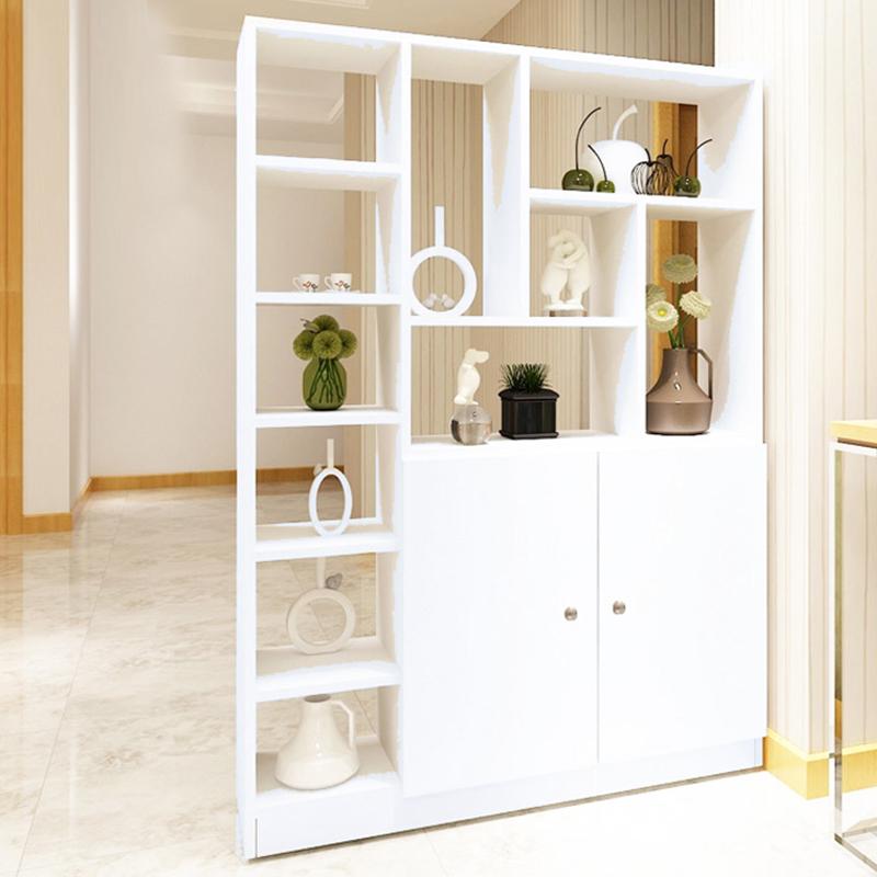 百意空间 定制门厅柜 玄关柜 客厅柜子 木质隔断柜子 简约现代 酒柜