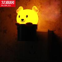 创意卡通可爱节能光控灯 LED小夜灯 壁灯楼道灯 宝宝卧室灯 床头喂奶灯 爱心熊