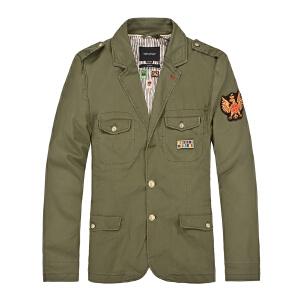 杰克琼斯秋冬季男士商务修身贴标多口袋百搭夹克25-1-2-213108018040