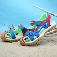 16.8cm~23.5cm巴布豆童鞋 儿童凉鞋夏款镂空沙滩鞋女童凉鞋公主鞋包头男童凉鞋