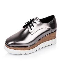 Tata/他她牛皮女单鞋2LK21CM6