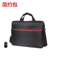 联想 三星 戴尔 华硕 惠普 15.6英寸及以下笔记本电脑通用单肩包+鼠标 手提包 时尚包 斜挎包