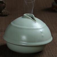 汝窑香炉陶瓷 手工创意盘香香炉 古典家居摆设品 陶瓷香炉