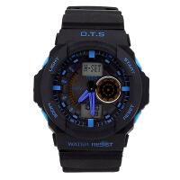 奥迪斯OTS韩版运动表男表户外防水多功能男生学生电子表 男士手表T8065