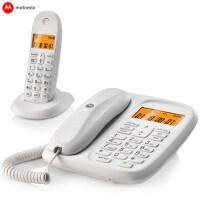 摩托罗拉CL101C 数字无绳电话机 办公子母机 家用无线座机 一拖一,