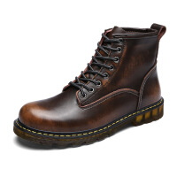 2017秋冬新品真皮马丁靴男士擦色复古男靴加绒耐磨保暖工装靴L89027JZQG支持货到付款