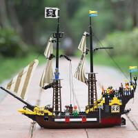 拼装玩具加勒比冒险号海盗船儿童益智兼容乐高积木男孩6-12岁礼物