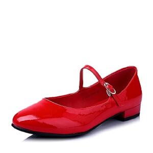 BASTO/百思图春季专柜同款牛皮时尚女单鞋TL825AQ6