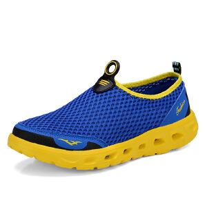 秋季透气网鞋男士网眼运动鞋镂空网状休闲布鞋系带男鞋秋网面鞋子X6XYMY