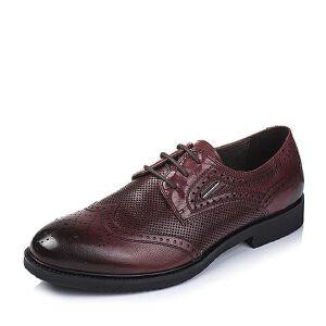 BASTO/百思图夏季专柜同款牛皮男单鞋AYF01BM6