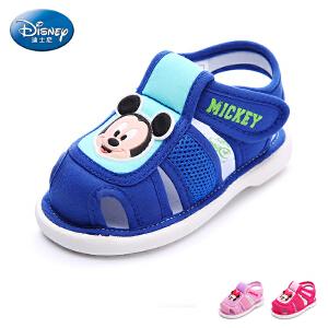迪士尼童鞋2017幼童学步鞋男宝宝鞋女宝宝鞋婴儿鞋米奇鞋步前鞋DH0105
